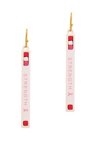 Strength Strap Design Earring