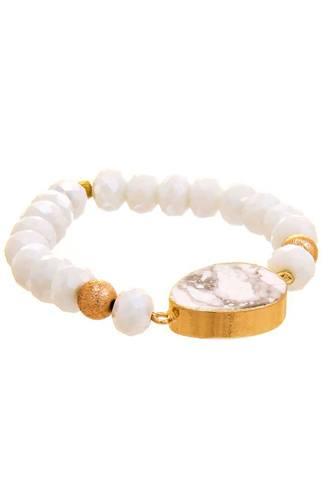 Crystal Oval Multi Bead Bracelet