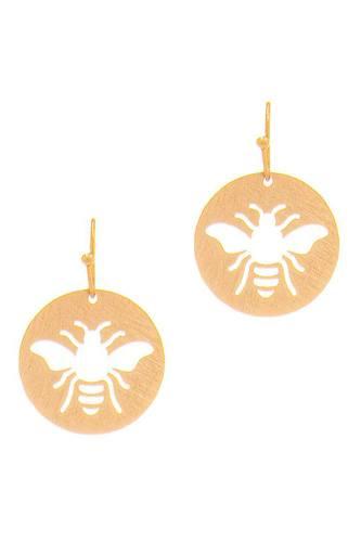 Cute Fashion Bee Hollow Drop Earring