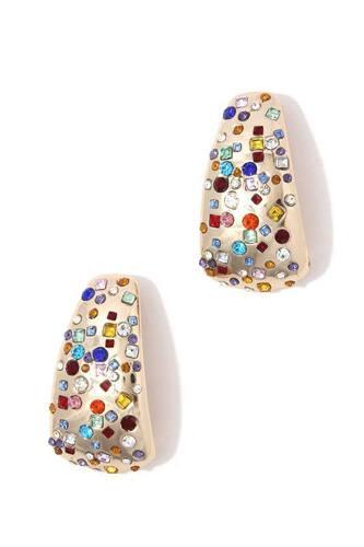 Rhinestone Metal Earring