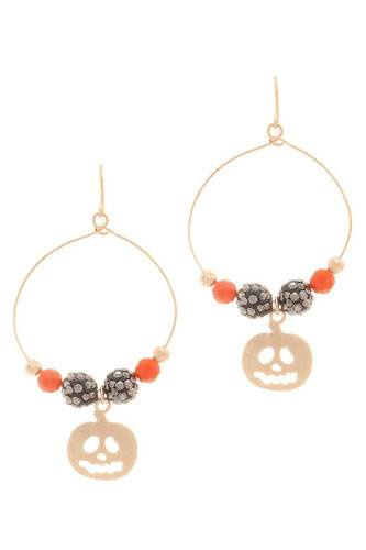 Halloween Scary Pumpkin Metal Hook Earring