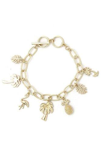 Chic Fashion Tropical Charm Drop Bracelet
