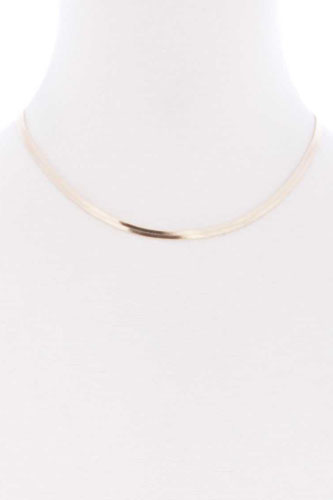 Herringbone Chain Metal Short Necklace
