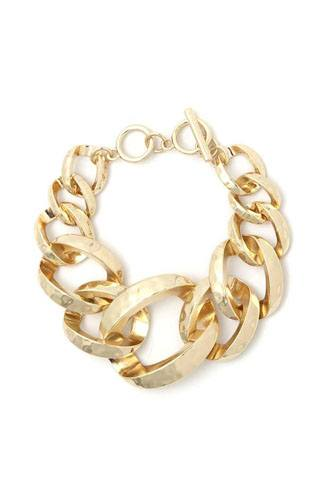 Wide Cuban Chain Bracelet