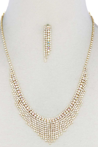 Dangle Rhinestone Necklace