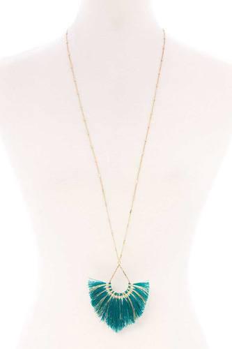 Fashion Tassel Metal Long Necklace