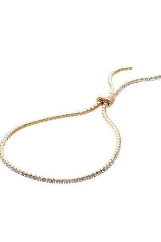 Adjustable Multi Rhineston Bracelet