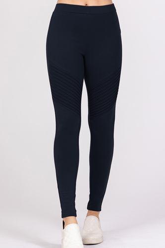 Pintuck Detail Ponte Pants