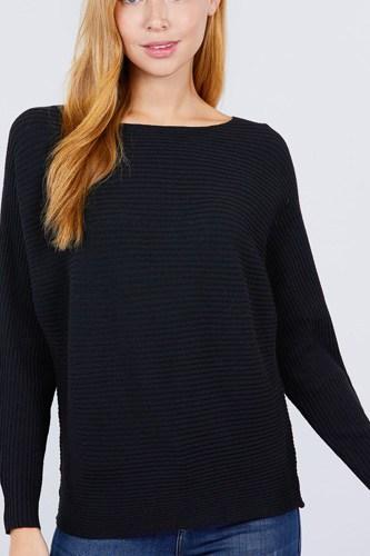 Dolman Boat Neck Sweater