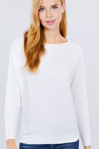 Dolman Boat Neck Sweater