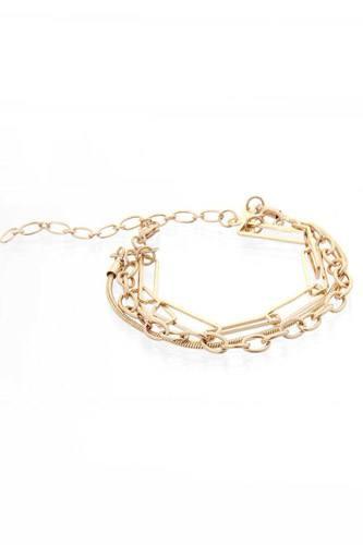 3 Line Multi Metal Bracelet