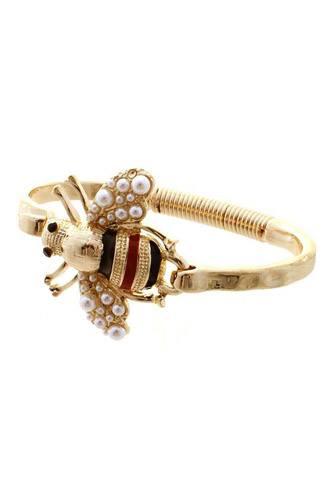 Pearl Bee Metal Bracelet
