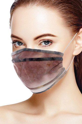 Tie Dye Trifold Reusable Face Mask