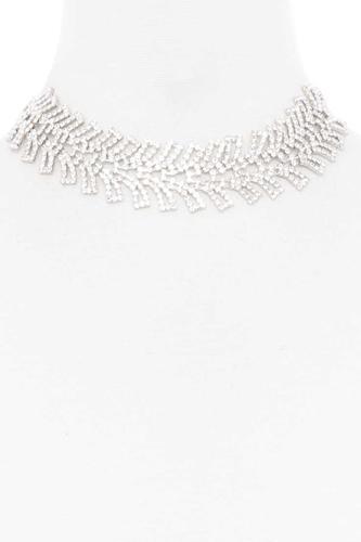 Rhinestone Wide Short Necklace