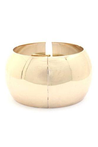 Solid Wide Cuff Bracelet