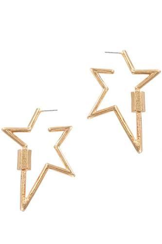 Metal Star Earring