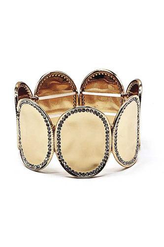 Multi Round Metal Stretch Bracelet