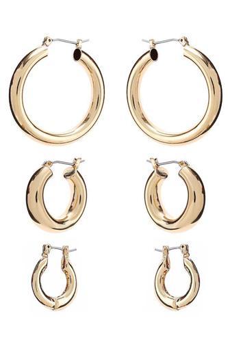 Basic Mini Hoop Earring 3 Pair Set