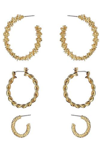 Multi Style Mini Hoop 3 Pair Earring Set