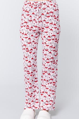 Cocktail Print Cotton Pajama