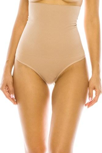 Hi Waist Control Smooth Soft Fabric Thong