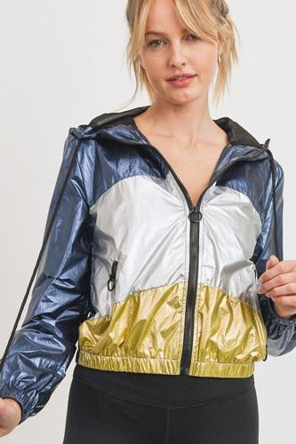 Metallic Colorblock Jacket