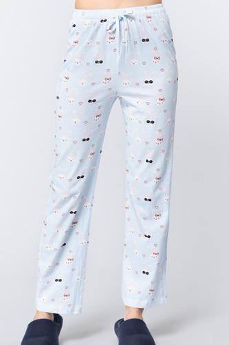 Rabbit Print Cotton Pajama