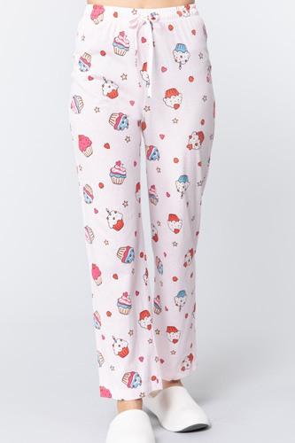 Cupcake Print Cotton Pajama