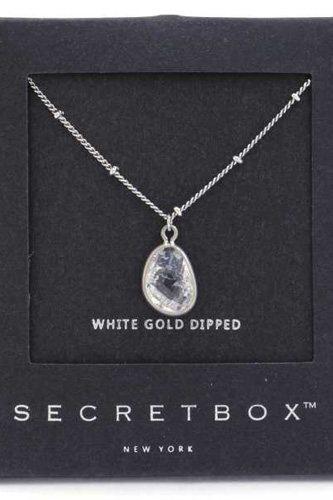 Secret Box Stone Charm Necklace