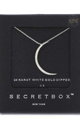 Secret Box Crescent Moon Pendant Necklace