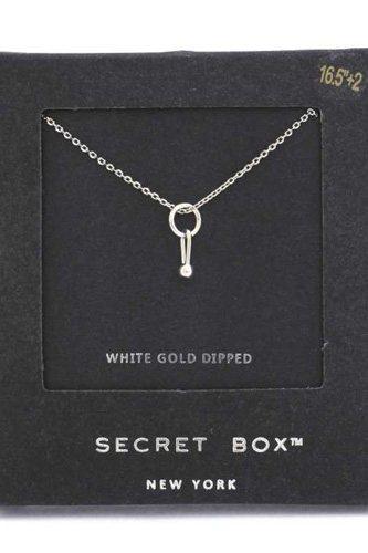 Secret Box Dainty Ring Charm Necklace