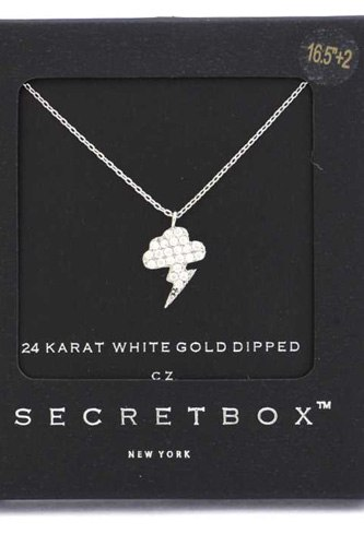 Secret Box Lighting Bolt Charm Necklace