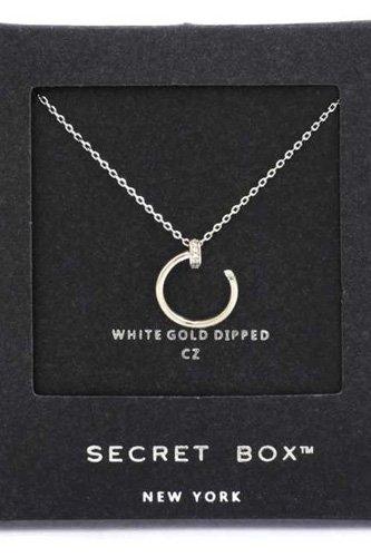 Secret Box Nail Charm Necklace