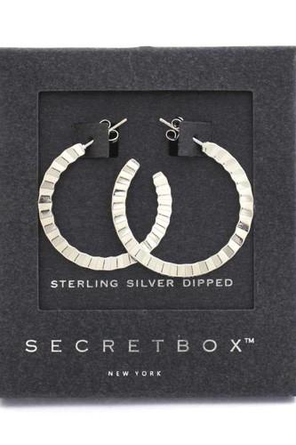 Secret Box Open Hoop Earring