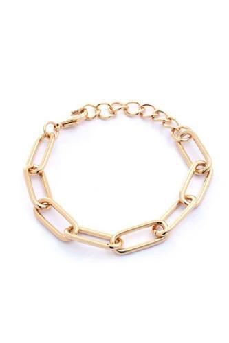 Metal Oval Link Chain Bracelet