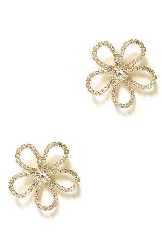 Flower Rhinestone Stud Earring