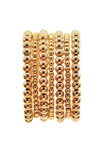 Ball Chain Stretch Metal Bracelet 7pc Set