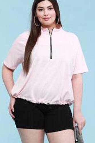 Plus Size French Terry Pullover Sweatshirt