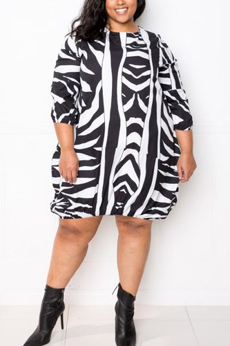 Zebra Bubbled Dress