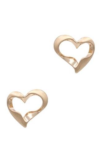 Metal Heart Stud Earring