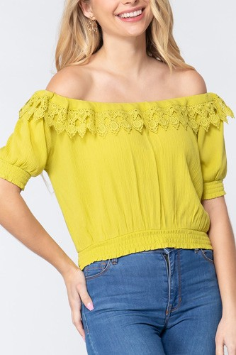 Off Shoulder Lace Detailed Top