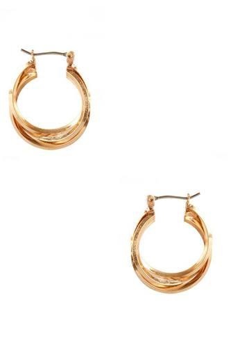 Metal Twist Ring Hoop Earring
