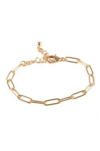 Metal Paper Clip Chain Bracelet