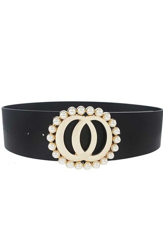 Fashion Double Joined Round Pearl Style Belt