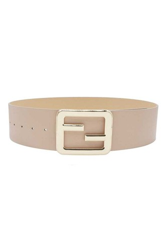 Mirrored Buckle Belt