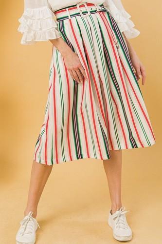 A Woven Midi Skirt