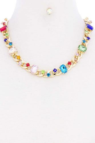 Rhinestone Cuban Link Necklace