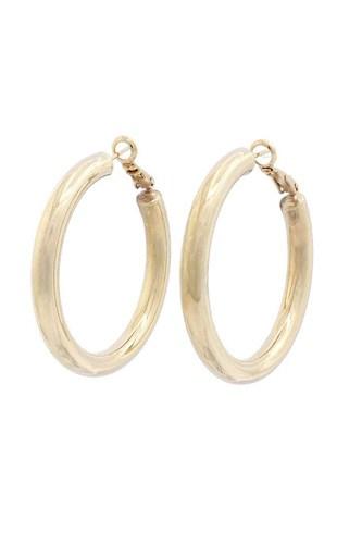 Tube Solid Hoop Earring