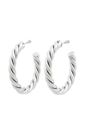 Twisted Open Circle Earring