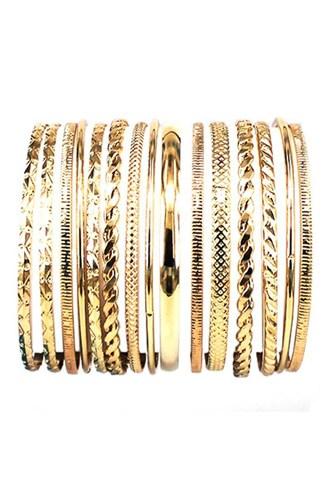 Metal Multi Bangle Bracelet